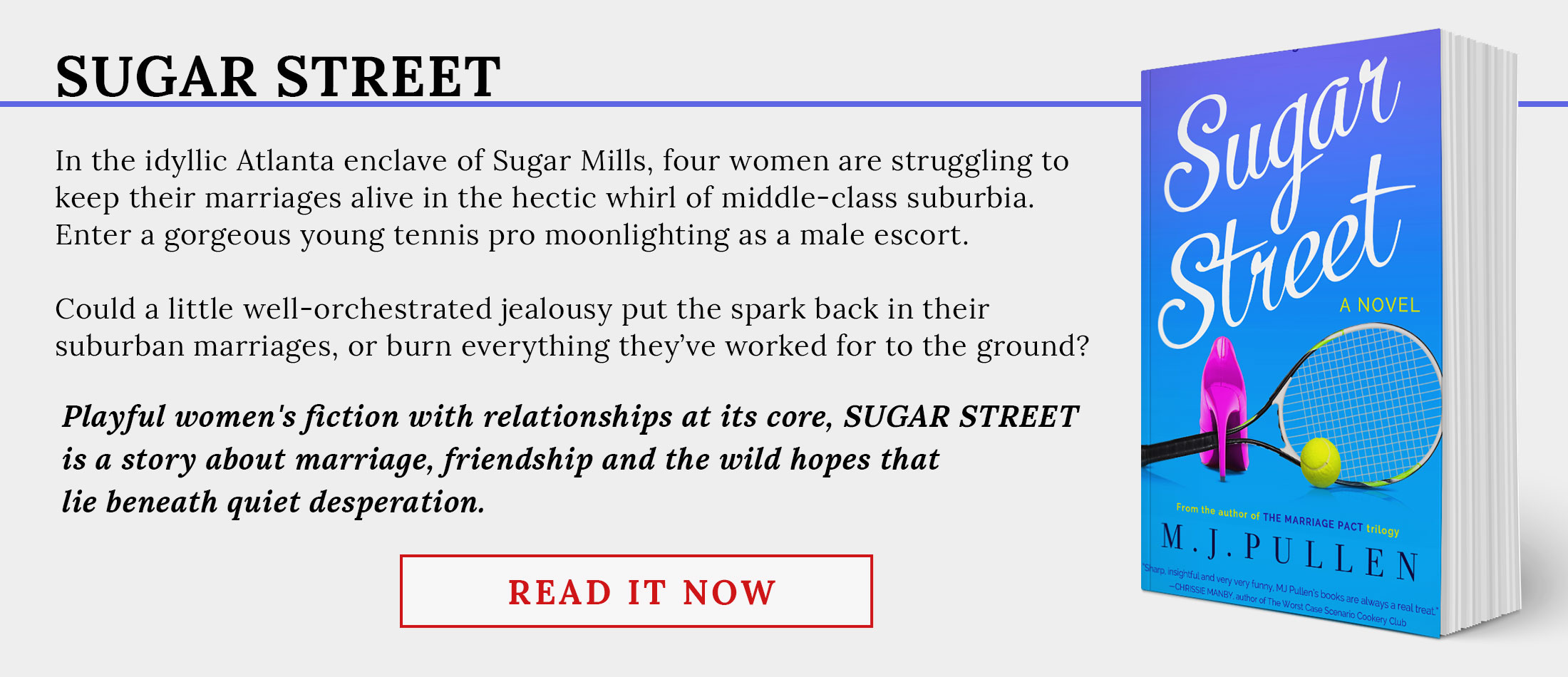 Sugar Street by M.J. Pullen - Playful Women's Fiction with Serious Heart