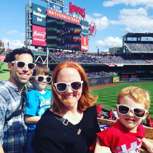 Nationals Park (the sunglasses were a giveaway, because we are SO not that coordinated!)
