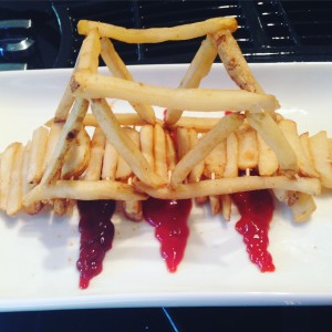 Bridge of Fries (with Martian ketchup)