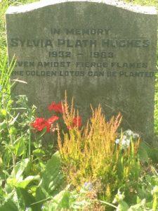 Gravesite of American poet and novelist Sylvia Plath. Heptonstall Churchyard.