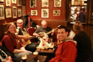 A blurry picture of a lovely night. Dublin, Ireland, 2008