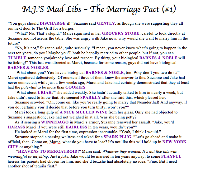 MadLibs-TheMarriagePact