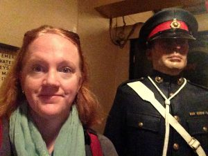 This is me in the underground bunker at the Churchill War Rooms, now a museum. (July 2016)